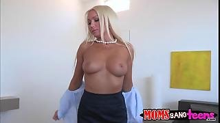 Diana Doll Seduces A Young Man In Shower