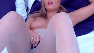 Stocking Babe Is Getting Off To Acesquirt Sex Toy While You Control