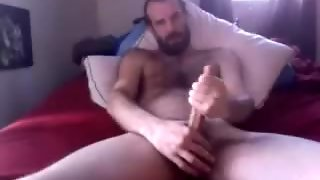 Mature Hunk Pulls On His Big Dick