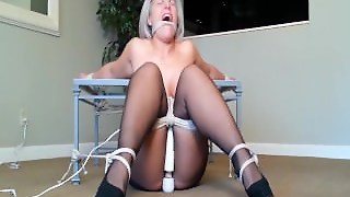 Blondy Tied Up