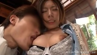Japanese Mom Bends Over So She Can Get Fingered