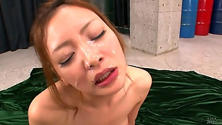 Disgraceful Japanese Slut Mio Kuraki Takes Loads Of Cum On Her Face