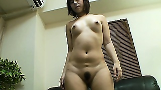 After Using A Vibrating Sex Toy On Her Hairy Snatch, This Gal Gets To  Sucking