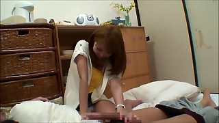 Lovely Asian Giving Hand Job To One Lucky Man