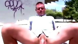 Cock Riding Gay Amateurs In A Parking Lot Outside