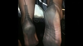 Amateur, Nylon, Cumshot, Foot Fetish, Pov