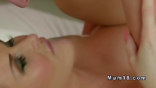 Beautiful Blonde Mom Pierced Cunt Banged