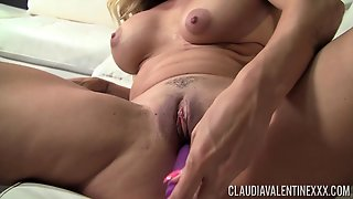 Lusty Milf Claudia Valentine Takes Her Toy And Starts Fucking Her Twat