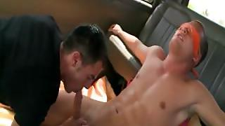 Blindfolded Tricked Straight Guy Gets Gay Blowjob