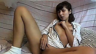 Smoking Hot Amateur Brunette Plays With Toys