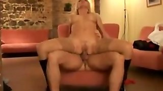Anal For A Blonde Babe In Stockings