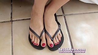 Lelu Lovered Nails Flip Flop Feet