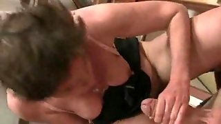 Hairy Old Cunt Rides His Cock