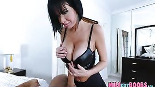 Milf Gets Off On Teen Dick Jacking This Thing On Her Large Milf Busty Boobs And Face