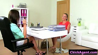 Innocent Euroteens Casting With Lesbian Agent