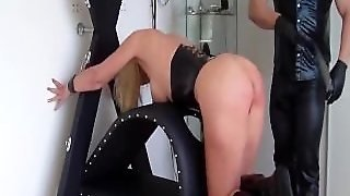 Busty Blond Slave Fisted Till She Squirts