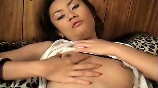 Sexy Asian In Panties Rubs Her Pussy