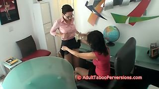 School Assistant Stripped And Made To Orgasm By Slut Boss