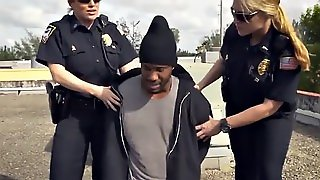 Lonely Cops Are Banging With A Horny Black Convict Because They Are Bored