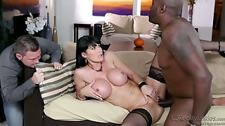 Sex Inane Brunette Rides Big Black Cock Face To Face Cuckold Sex Video