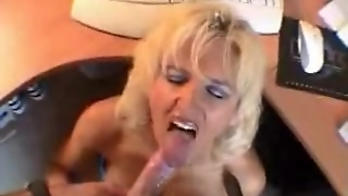 Sucking Cock At The Office