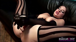 Brunette, Ass, Shaved, Hd, Toys, Stockings, Busty, Pussy, Big Tits, Masturbate, Pussy Licking