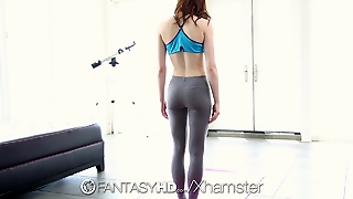 Hd - Fantasy Hd Jenna Ross Fucks Big Dick During Yoga Class