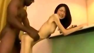 Anorexic Girl Fucked By Black Guy