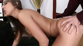 Brunette Is Fucking For A Promotion