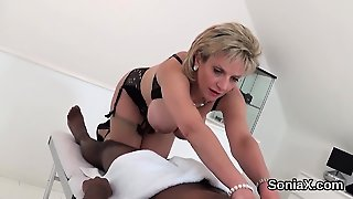 Adulterous English Mature Lady Sonia Displays Her Big Hooter