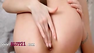 Black Stocking And Shaved Pussy