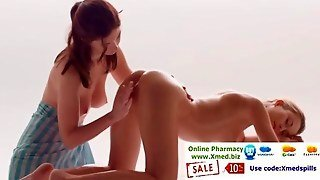 Blonde Lezzy Gets Naked For A Wild Massage And Gets Fingered