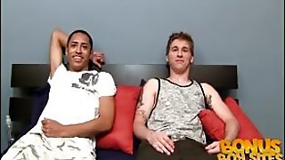 2 Strangers Have To Suck Some Dick