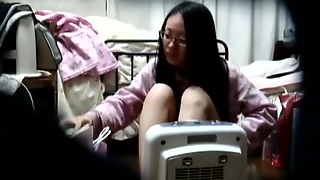 Asian Babe On Hidden Camera At Home