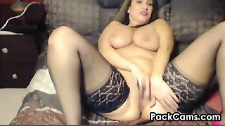 Fat Mother In Stockings And High Heels