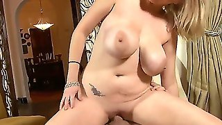 Hot Horny Blonde Girl Katie Kox Sucking Boyfriends Dick And Giving Him Hot Tittfuck, She Sucks That Dick And Get Fucked By It!