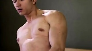 Muscular Gay Mormon Masturbating