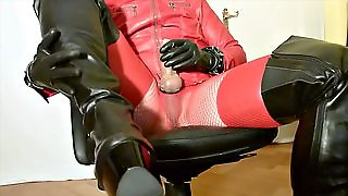Leather, Slut, Big Cock, Latex, Amateur, Horny, Gay, Handjob, Hd