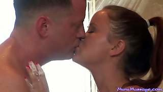 Kaci Star Is A Naked And Wet Massing Guy's Dick