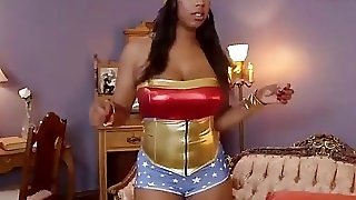 Ebony Wonder Woman Gangbang