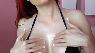 Big Tits With Oil