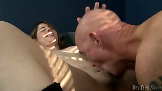 Sexy Shamale Chick With Small Dick Satisfies Bald Headed Dude