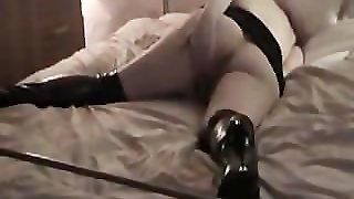 Milf Anna Solo In High Boots With High Heels