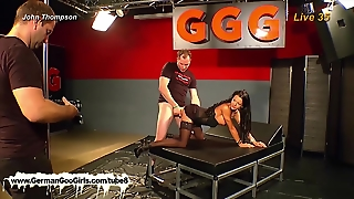 Germangoogirls Com, Double Penetration, Babe, Gangbang, Behind The Scenes, Ggg, Black Hair, Swallow, Johnthompson, Hd, Cumshot