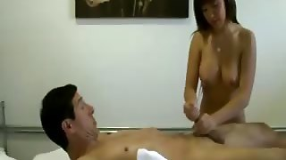 Asian Masseuse Is Cleaning The Pipes
