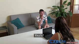 Czech Sex Hungry Milf Exploits Shy Stud In Casting