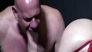 Old Guy Sucked By An Old Big Breasted Wo