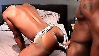Cock Hungry Ebony Jocks Tasting Dick