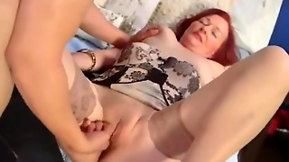 Lovely Milf In Nylons Gets Fucked