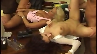 Sibel Ke. Group Sex  In The Office